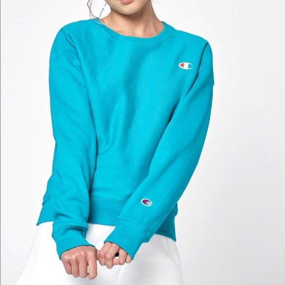 122031efae10 Teal Colored Champion Brand pullover sweatshirt
